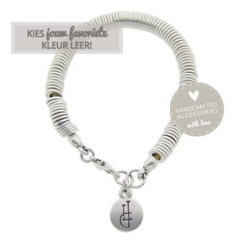stoere armband zilver