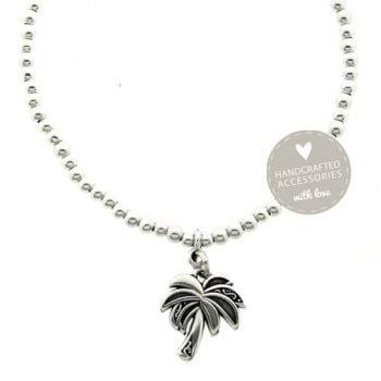 Enkelbandje-antique-zilver-palmboom-detail