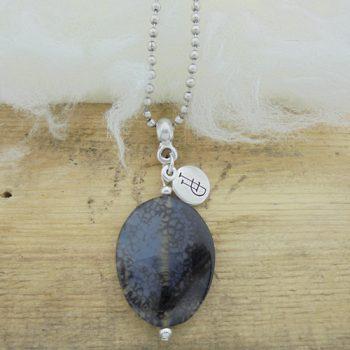 Ketting edelsteen black agaat
