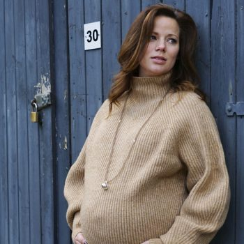 zwangerschapsketting edelsteen rookkwarts