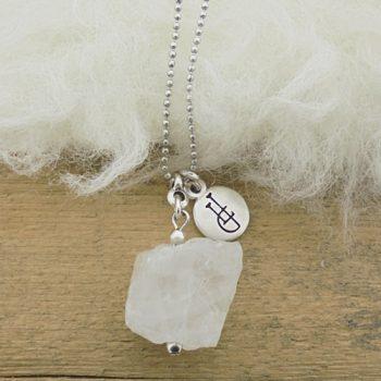 ketting-edelsteen-Bergkristal handgemaakte ketting