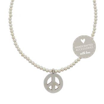 Enkelbandje zilver peace